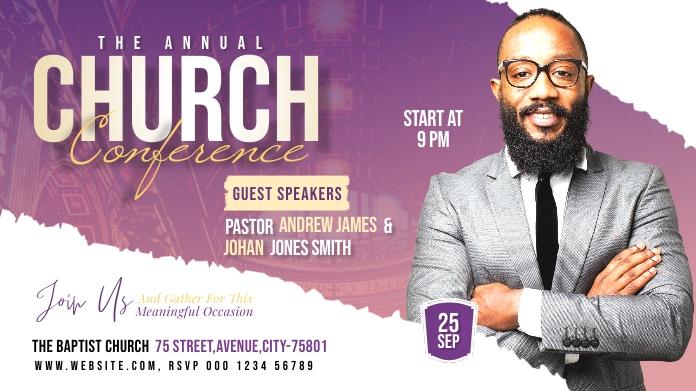 Church flyer Publicación de Twitter template