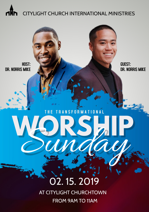 church flyer A3 template