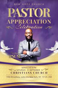 Church Flyer Pastor Appreciation Cartel de 4 × 6 pulg. template