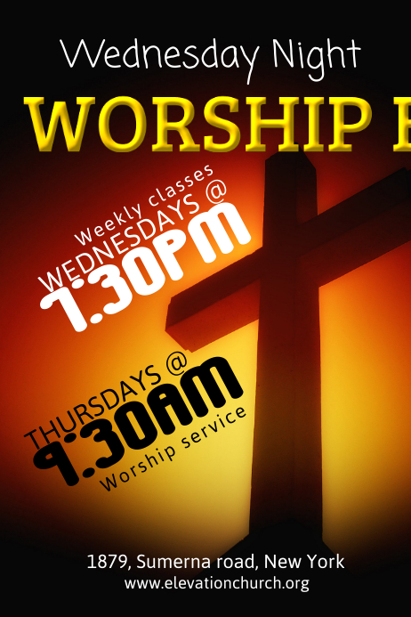 church flyer template postermywall