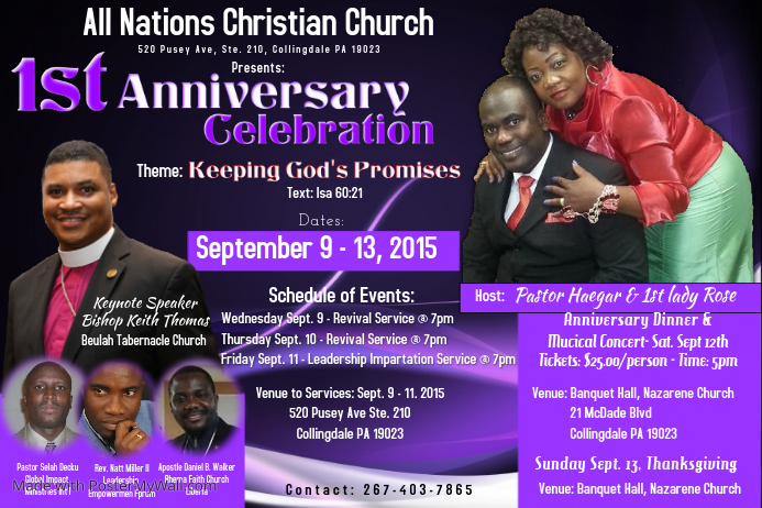 church flyer