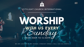 church flyer TEMPLATE Digitalanzeige (16:9)