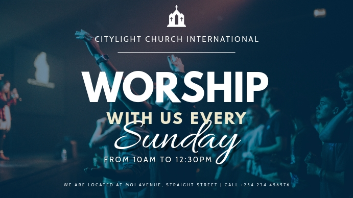 church flyer TEMPLATE Digitale display (16:9)