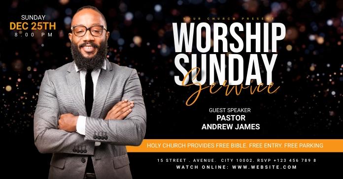 Church Flyer Template Facebook Ad