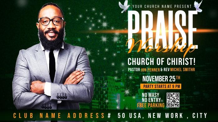 Church Flyer Template Publicación de Twitter