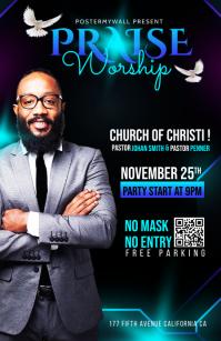 Church Flyer Template Tablóide