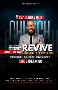Church Flyer Template Half Page Wide