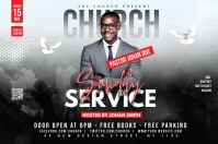 Church Flyer Template Label