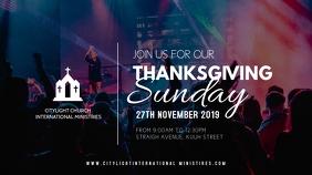 church flyer TEMPLATE Pantalla Digital (16:9)