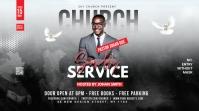 Church Flyer Template Foto de Portada de Canal de YouTube