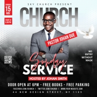 Church Flyer Template Square (1:1)