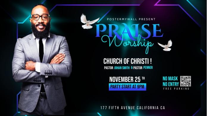 Church Flyer Template โพสต์บน Twitter