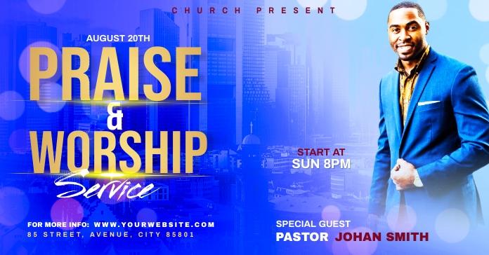 Church Flyer Template Рекламное объявление Facebook