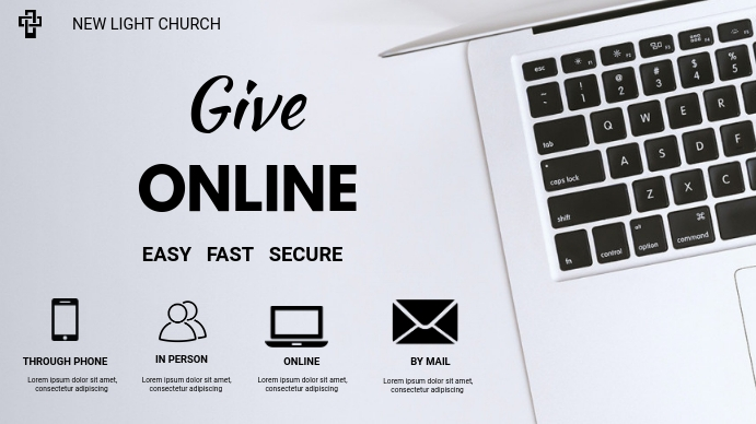 church giving flyer Digitale display (16:9) template