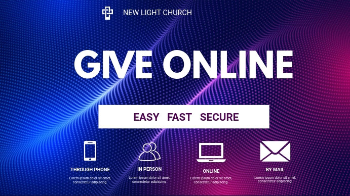 church giving flyer Tampilan Digital (16:9) template