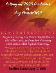 Church Graduate Acknowledgement