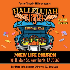CHURCH HALLELUJAH NIGHT TRUNK OR TREAT