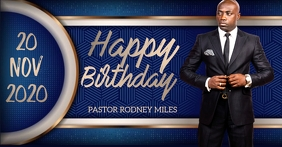 Church happy birthday pastor design template Imagen Compartida en Facebook