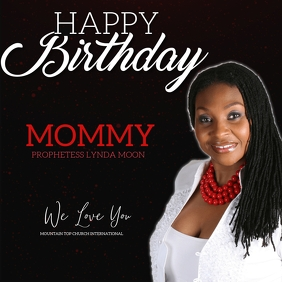church happy birthday pastor mommy template Square (1:1)