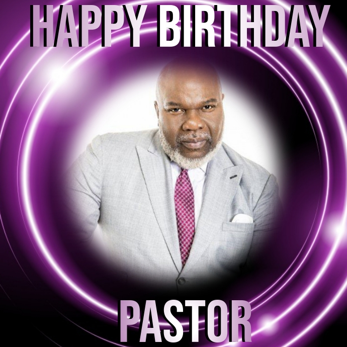 CHURCH HAPPY BIRTHDAY PASTOR Template Logo