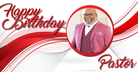 church happy birthday pastor template Facebook Shared Image