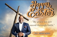 CHURCH HAPPY EASTER ONLINE CARD TEMPLATE Banner 4' × 6'