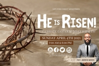 CHURCH HAPPY EASTER ONLINE TEMPLATE Banner 4' × 6'