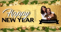 CHURCH Happy New year wishes Template Gambar Bersama Facebook