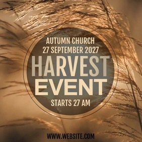 CHURCH HARVEST EVENT AD Post Instagram template