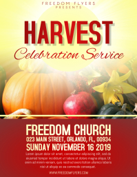 Church Harvest Flyer template