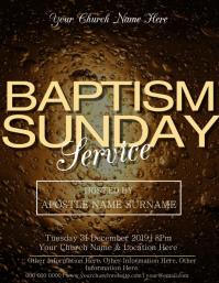 Church Holy Spirit Baptism Sunday Template