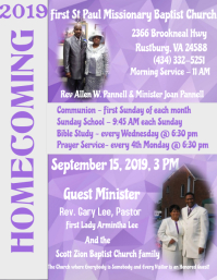 Church Homecoming, Church Anniversary,Event