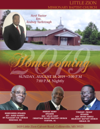 Church Homecoming Flyer (US Letter) template