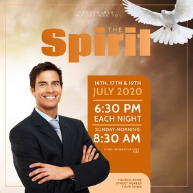 Church Instagram Flyer Template