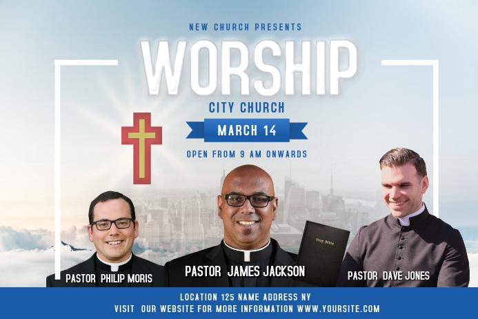 Church Invite Landscape Poster