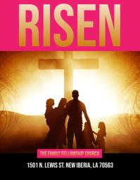 CHURCH JESUS RISEN EASTER FLYER