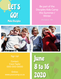 Church Kids Camp Flyer Template