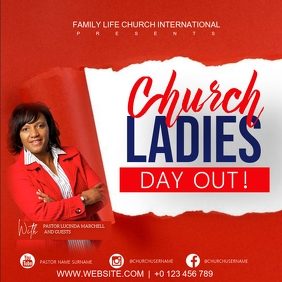 CHURCH LADIES WOMEN'S DAY CONFERENCE TEMPLATE Square (1:1)