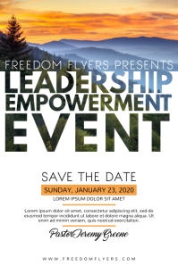 Church Leadership Event Poster Template