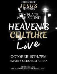 Church Live Concert Event Flyer Template