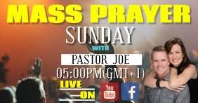 church LIVE EVENT VIDEO TEMPLATE Facebook Shared Image