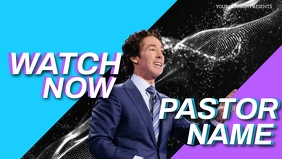 CHURCH LIVE ONLINE FROM AT HOME AD template Facebook Cover Video (16:9)