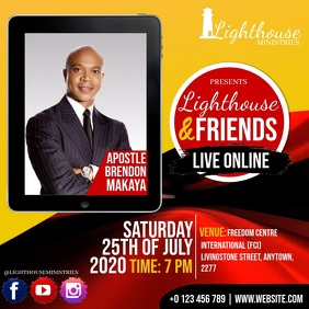 CHURCH LIVE ONLINE FROM AT HOME TEMPLATE Quadrado (1:1)
