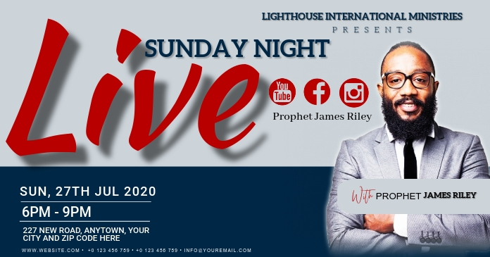 CHURCH LIVE ONLINE FROM AT HOME TEMPLATE Gambar Bersama Facebook