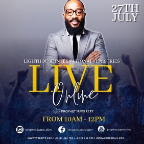 CHURCH LIVE ONLINE FROM AT HOME TEMPLATE Square (1:1)