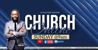 CHURCH LIVE ONLINE SERMON TEMPLATE Portada de evento de Facebook