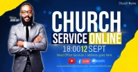 CHURCH LIVE ONLINE SERMON TEMPLATE Cover ng Facebook Event