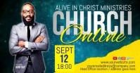 CHURCH LIVE ONLINE SERMON TEMPLATE Facebook-gebeurtenisomslag