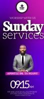 CHURCH LIVE ONLINE SERMON TEMPLATE Rack Card