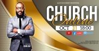 CHURCH LIVE ONLINE SERMON TEMPLATE Facebook Event Cover